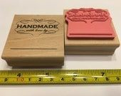 Handmade with love rubber stamp, 45 mm (SB1)