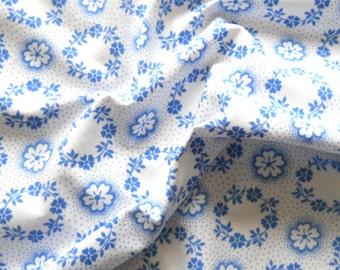 vintage blue fabric patchwork fabric blue floral fabric french fabric blue cotton fabric vintage blue fabric 185