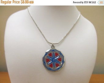 "ON SALE Vintage ""Blackington Pewter"" PA Dutch  Hex Sign Necklace Item K # 2295"