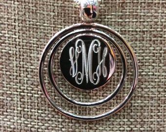 Sterling Silver Monogrammed Necklace