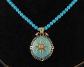 Beautiful Victorian diamond star pendant necklace