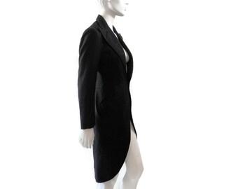 Cutaway Tuxedo Jacket with Split Tails by Ralph Lauren Purple Label Androgynous Formal Wear