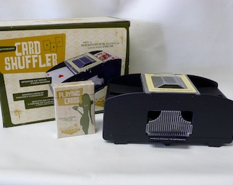 Vintage Wembley Casino Collection  Card Shuffler 1 - 2  Decks Battery Operated New in Box Unused Deck of Cards