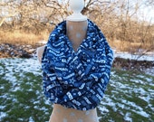 Dallas Cowboys GLITTER NFL Infinity Scarf Adult 10x70 Double Loop