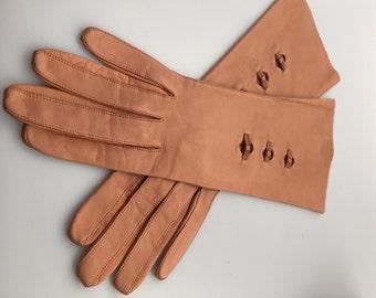 1950s Vintage, KISLAV Gloves, Vintage Gloves,  Leather Gloves,Soft leather,  Fancy Gloves,  Made in FRANCE
