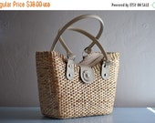 Sale Backordered Handwoven straw tote// picnic basket// market tote// beach bag