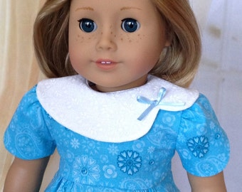 American Girl Dolls Clothes ~ 1930's Dress, Blue with Collar, vintage style
