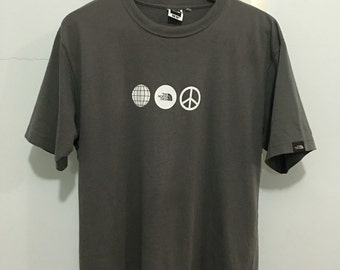 Vintage The North Face Tek Tee Made in Japan Casual Hiking mounting T-Shirt