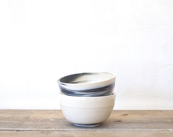 Marbleized Porcelain Bowl