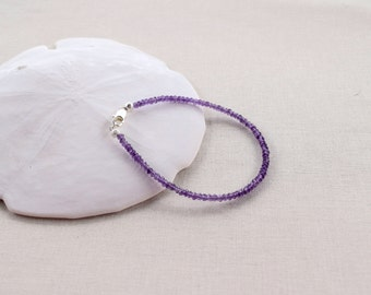 Faceted Purple Amethyst Bracelet