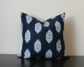 Decorative Throw Pillow, Blue Pillow, Blue Ikat Pillow Cover, Kosi Pillow, Toss Pillow, Sofa Pillow, Throw Pillow, Accent Pillow