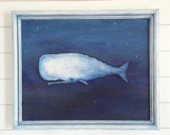 Three Dimensional Relief Sperm Whale Painting