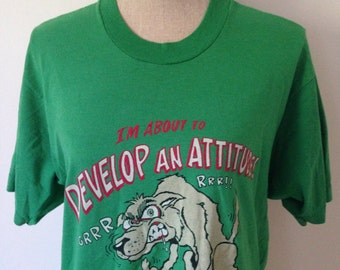 Vintage Dog with an Attitude 80s Tshirt
