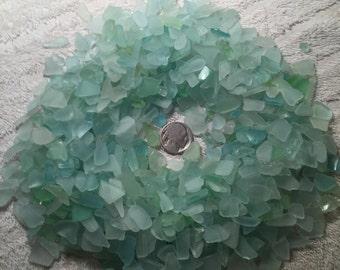Extra Small Aqua Sea Foam Light Blue Sea Glass
