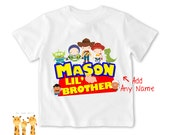 Little brother shirt toystory family Tshirt - Personalized Little brother Shirt or Bodysuit - 032_BB_2C_toystory family