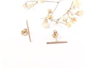 SALE, Gold Bar Stud Earrings, Bar Earrings, Stud Bar Earrings, Bar Stud Earrings, Silver Bar Earrings, Slim Earrings, Minimalist Earrings