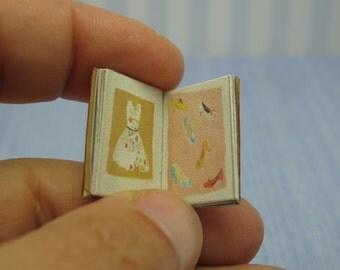 Gaël Miniature shabby chic journal book 1:12 Dollhouse Miniature  book handmade