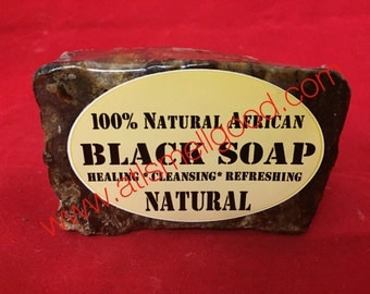 8oz black soap  body cleanser with lemongrass