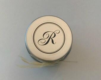 Organic Rosemary & Sea Salt Monogrammed Wedding Favor