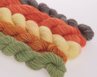 Wool Yarn NEW - Mini Skeins Collection - 'MELANCOLICO'
