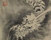 Japanese Fine Art Painting Hanging Scroll Flying Dragon kakejiku – 1503016