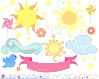 80% OFF - INSTANT DOWNLOAD, You are My Sunshine Clipart, vector clipart, for commercial and personal use