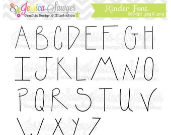 80% OFF - INSTANT DOWNLOAD, handwriting font, letter clipart, kids letters, for greeting cards, announcements, scrapbooking