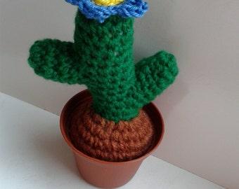 Crochet cactus evergreen pin pillow home decoration