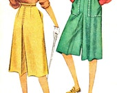 Misses Culotte's or Split Skirt Vintage Sewing Pattern McCall 6768 Waist 24