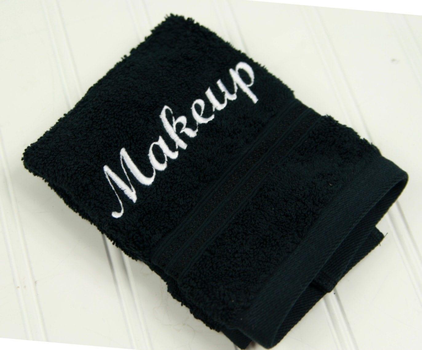 Black Makeup Towel Makeup Washcloth Beach House Gift