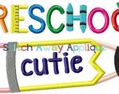 Preschool Cutie, Preschool Shirt, First Day of School, Boy Preschool Shirt, Girl Preschool Shirt