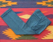 WARDROBE STAPLE Vintage J. Press Flat-Front Charcoal Gray Trousers with Cuffs W 30 L 28 1/2.  Made in USA.