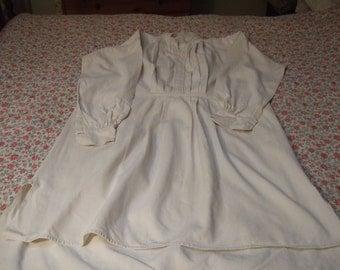 Antique French Hemp Linen  Night Shirt. late 1800's Hand Made