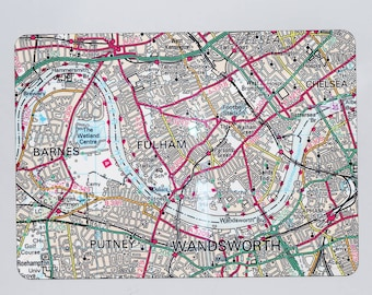 Personalised UK Postcode Map Table Placemat