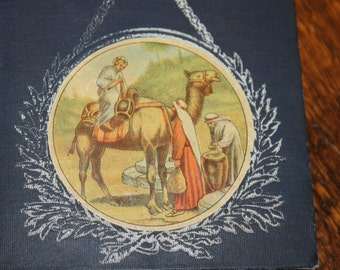 Joel: A Boy of Galilee by Annie Fellows Johnston 1907, Illustrated by L. J. Bridgman, Antique Book, Vintage Book, Blue Book, Blue and White