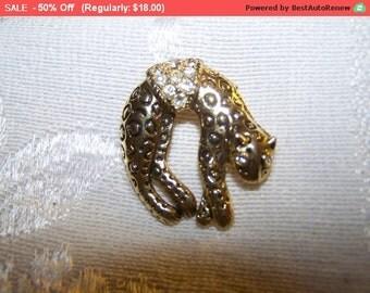 SALE Rhinestone leopard brooch pendant, leopard pin, leopard brooch, cat brooch