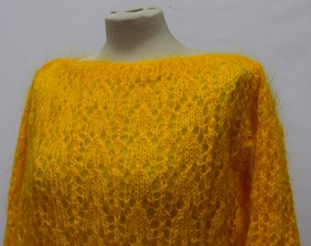 Canary Yellow Thin-knit Jumper (DOWN FROM 29.99)