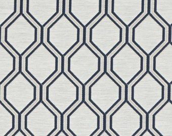 navy blue upholstery fabric by the yard navy taupe geometric fabric custom navy blue - Home Decor Fabrics By The Yard