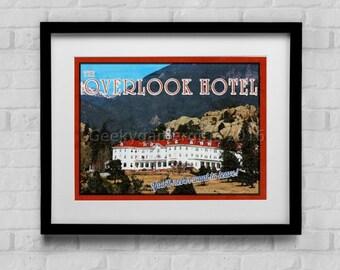 Overlook Hotel Travel Poster    Vintage Impressionistic look print   Vintage travel   Fantasy travel poster