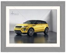 Yellow Range Rover Evoque Car Photographic Print - Various Sizes - Gift Idea