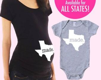 State 'Made' Maternity T-Shirt - S M L XL 2XL 3XL