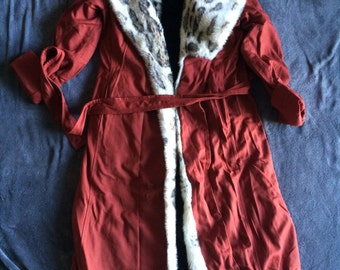 Vintage Faux Fur Red Winter Coat