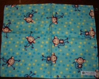 FLANNEL WASHUP CLOTH - measures 12x 12