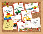 INSTANT DOWNLOAD -Digital File - Transportation Valentine Cards- Printable