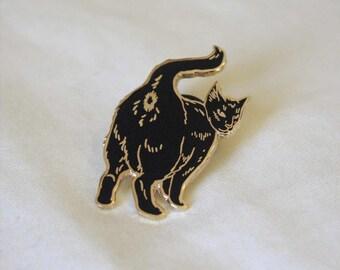 Gold Cat Butt Cloisonné Lapel Pin