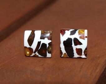Unpolished Baltic Amber Earrings