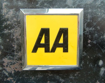 Vintage Square AA Automobile Car Badge