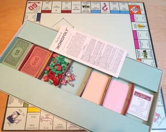 1961 Great Britain Monopoly Property Trading Board Game, John Waddington, Ltd., Parker Bros