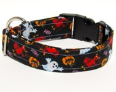 Halloween Dog Collar, Halloween, Dog Collar, Adjustable Dog Collar