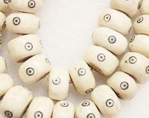 Kenya Bone Beads (10), African Bone Beads , Ethnic Beads (S24)